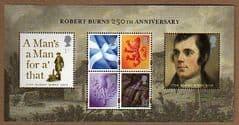 2009 U/M '250TH ANN OF ROBERT BURNS' M/S