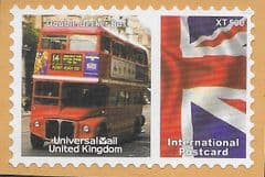 2009 'UNIVERSAL MAIL 'DOUBLE DECKER BUS' (INTERNATIONAL POSTCARD) FINE USED