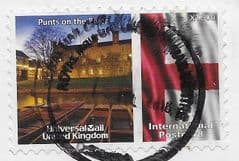 2009  'UNIVERSAL MAIL 'PUNTS ON THE RIVER'  (INTERNATIONAL POSTCARD) FINE USED