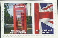 2009  'UNIVERSAL MAIL 'TELEPHONE BOX'  (INTERNATIONAL POSTCARD)  FINE USED