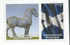 2009  'UNIVERSAL MAIL 'THE HEAVY HORSE'  (INTERNATIONAL POSTCARD) FINE USED