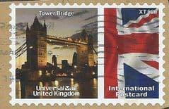 2009  'UNIVERSAL MAIL 'TOWER BRIDGE'  (INTERNATIONAL POSTCARD) FINE USED