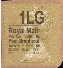 2010 1LG' POST BRENHINOL GOLD TYPE I (THICK FONT) LABEL