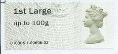 2010 1ST LARGE (UPTO 100g)' POST 'N' GO (TYPE IIa) (NO CODES) FINE USED