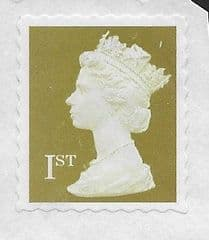 2010 1ST (S/A) 'GOLD' MACHIN FORGERY (WAVY PERFS) ON PIECE. NOT CANCELLED