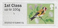 2010 1ST (UPTO 100g) ' BIRDS SERIES- GOLDFINCH' ( EX TALLENTS HOUSE) FINE USED