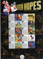 2010 '2012 OLYMPIC GAMES -HIGH HOPES' SHEET