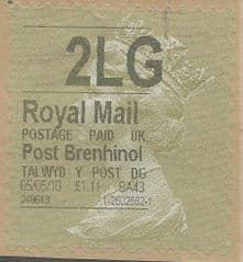 2010 2LG' POST BRENHINOL GOLD TYPE I LABEL