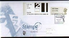 2010 2ND 'FASTSTAMP AND 1ST 'POST & GO' (STAMPEX ) ON STAMPEX COVER