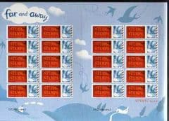 2010 (EUROPE UPTO 20g) 'BUSINESS AND CONSUMER SMILERS' SHEET WITH STU1967 STAMPS LOGO TABS