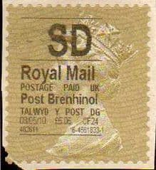 2010 SD' POST BRENHINOL (THICK FONT)GOLD TYPE I LABEL