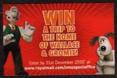 2010 'WALLACE AND GROMIT' XMAS COMPETITION CARD