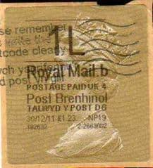 2011 1L ( B 4) 'POST BRENHINOL' TYPE 2a (NP19)