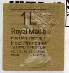 2011 1L ( B 4) POST BRENHINOL TYPE II WITH CODES