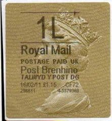 2011 1L 'POST BRENHINOL TYPE II (MISSING 'L') FINE USED