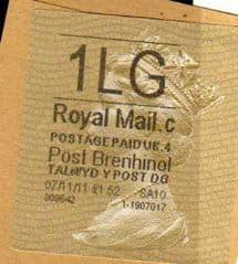 2011 1LG POST BRENHINOL TYPE II WITH CODES