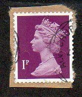 2011 1P' SECURITY MACHIN'  ( NO BACKGROUND OVERPRINT) FINE USED
