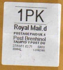2011 1PK POST BRENHINOL (LATE USE)