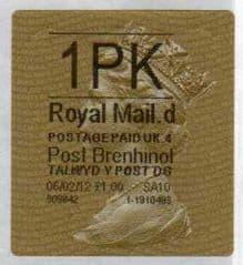 2011 1PK POST BRENHINOL TYPE II WITH CODES (D 4)