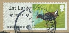 2011 1ST (UPTO 100g) 'BIRDS SERIES III MOORHEN'  FINE USED