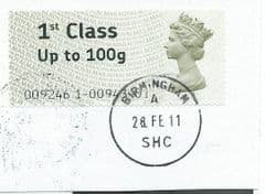 2011  1ST (UPTO 100g)' POST 'N' GO (LARGE FONT)  FINE USED
