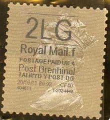 2011 '2LG'(F 4) 'POST BRENHINOL' GOLD PERF TYPE 1