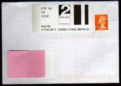 2011 2ND 'POST & GO -'(LEEDS-NEW YORK STREET) LABEL COVER