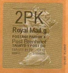2011 2PK(G 4) POST BRENHINOL TYPE2 WITH CODES