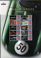 2011 '50TH ANN OF THE E TYPE JAGUAR' SHEET