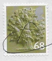 2011 68P 'ENGLAND - OAK TREE' FINE USED ON PAPER*