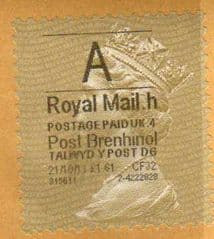 2011 'A'( H 4) 'POST BRENHINOL' GOLD PERF (LATE USE)