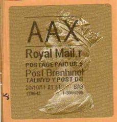 2011 'AAX' ( R 5) POST BRENHINOL TYPE II