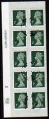 2011 BLOCK OF 10 X 2P' SECURITY MACHIN'(PLATE D1)FINE USED