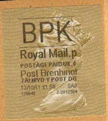 2011 BPK POST BRENHINOL TYPE II WITH NEW CODES