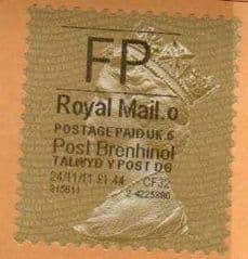 2011 'FP'( O 5) 'POST BRENHINOL' GOLD PERF