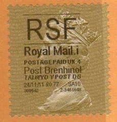 2011 'RSF'( i 4)(£0.77) 'POST BRENHINOL' GOLD PERF