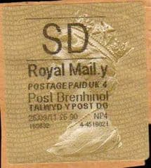 2011 SD ( Y 4) POST BRENHINOL  TYPE II WITH NEW CODES.