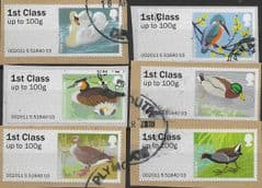 2011  (SET) 1ST CLASS 'BIRDS III ' (TYPE II)(EX TALLENTS HOUSE) (6v) FINE USED