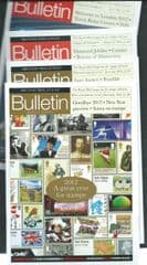 2012 /13  4X 'BRITISH PHILATELIC BULLETIN' MAGAZINES