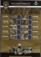 2012 150TH ANN OF NOTTS COUNTY F.C' COMMEMORATIVE SHEET