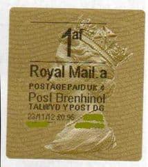 2012 '1af' ( A 4) (£0.95) POST BRENHINOL TYPE II WITH NEW CODES