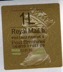 2012 '1L' (B 5) WALSALL WELSH GOLD TYPE 3 LABEL*RARE '5' CODE*