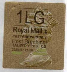2012 '1LG' (C 4) WALSALL WELSH GOLD TYPE 3 LABEL