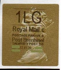 2012 '1LG' (C 5) WALSALL WELSH GOLD TYPE 3 LABEL *RARE CODE 5*