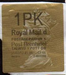 2012 1PK ( D 4) POST BRENHINOL GOLD HORIZON (TYPE 2a)