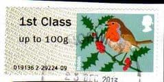 2012 1ST 'CHRISTMAS ROBIN (MA13)   FINE USED