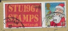 2012 1ST 'CHRISTMAS ' WITH STU1967 STAMPS' TAB FINE USED