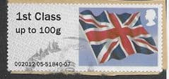 2012 1ST CLASS  'UNION FLAG'(EX TALLENTS HOUSE)  FINE USED
