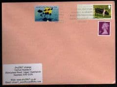 2012 1ST 'PIGS- BRITISH S'BACK' POST & GO' BLANK +20P  CARDIFF SCOUT (2012) STAMP FINE USED ON COVER