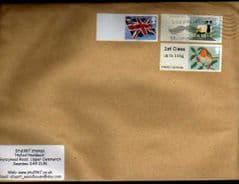2012 1ST 'ROBIN (MA12)' + (BLANK) 'SHEEP' + (BLANK) 'UNION FLAG' ON COVER